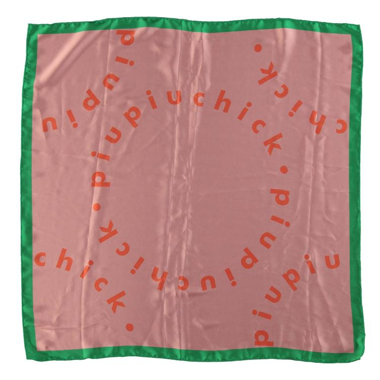 Bandana silk orange logo