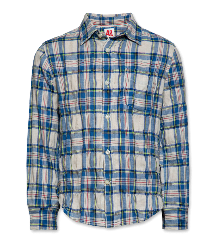 Billy button down shirt blue