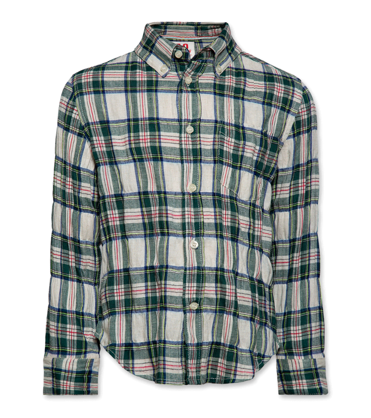 Billy button down shirt green