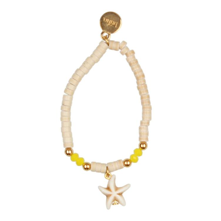 Bracelet starfish yellow