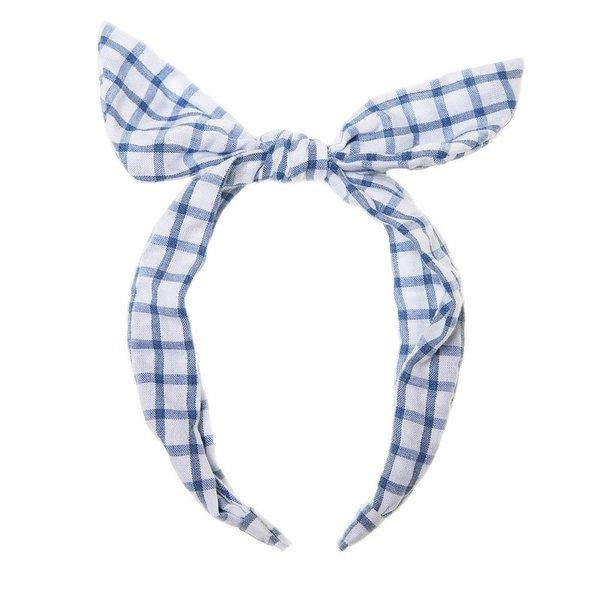Headband Gingham blue