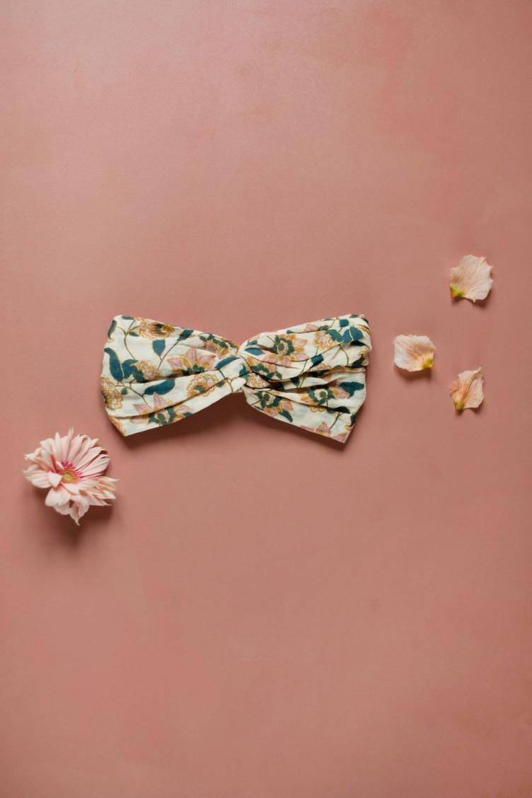 headband Yuriria cream flowers