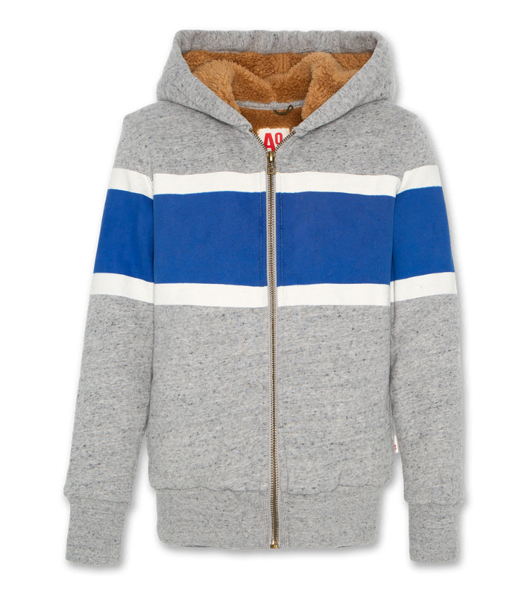 Hoodie fur full zip oxford