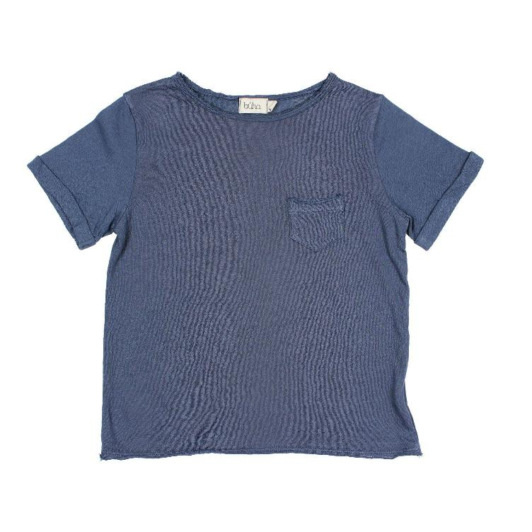 James pocket T shirt indigo
