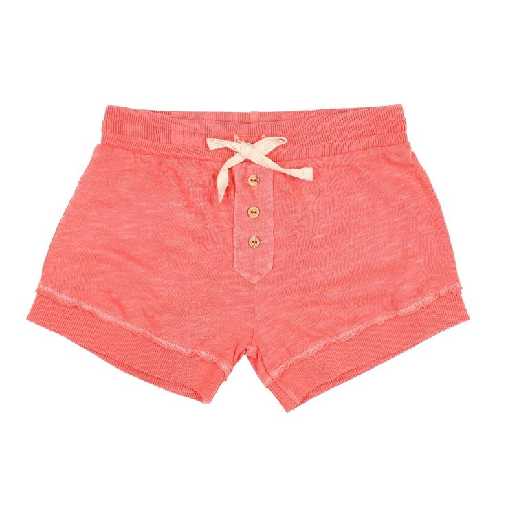 jane cotton flame short coral