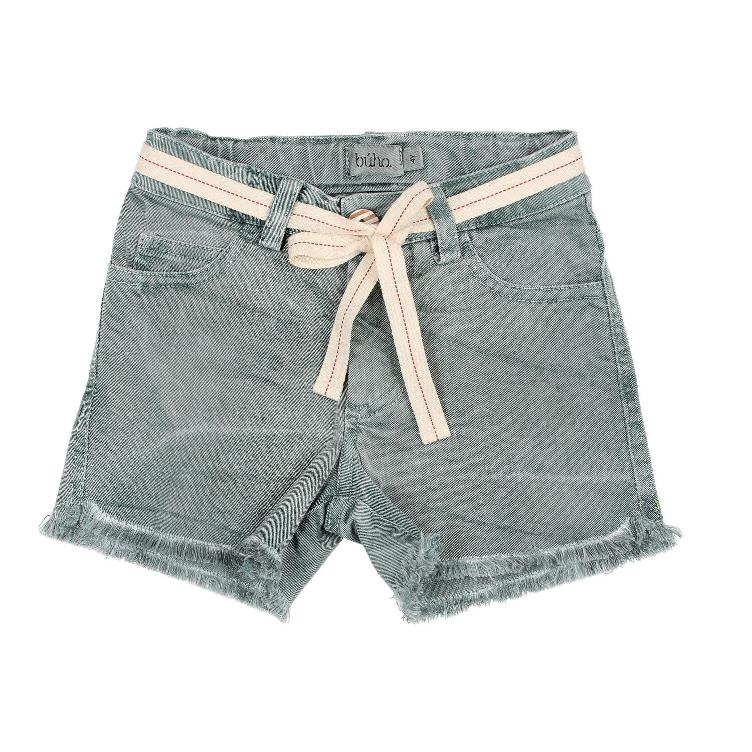 Jolie cotton twill washed short musk