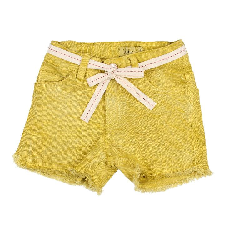 Jolie cotton twill washed short ocre