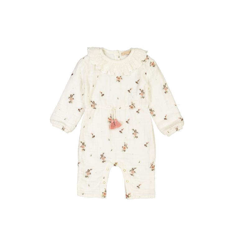 Jumpsuit Eden off white flowers