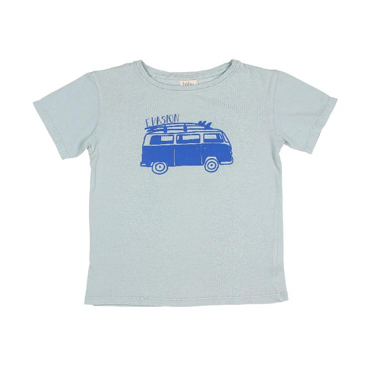 Leo Evasion T shirt misty blue