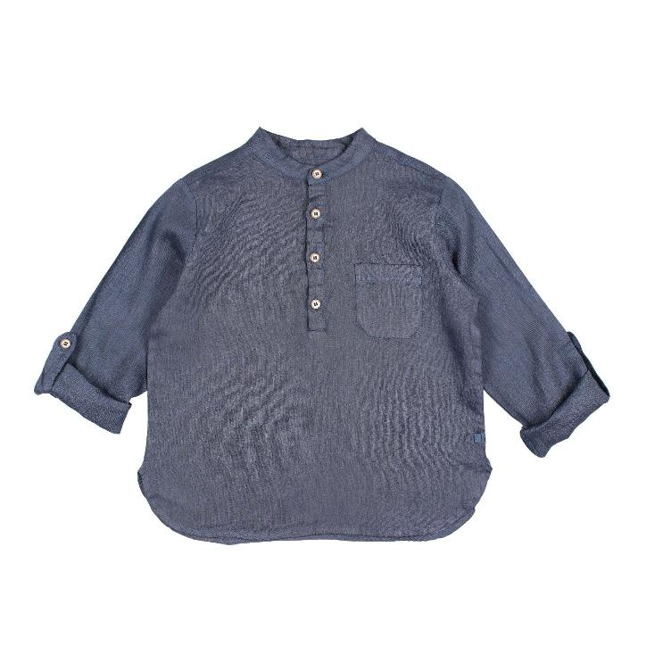 Paul Linen shirt indigo