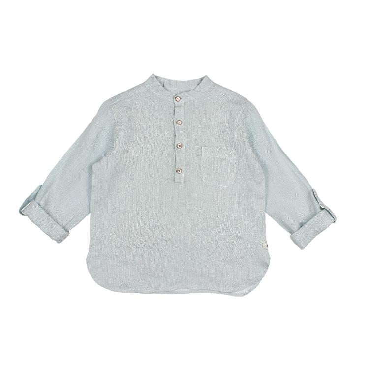 Paul Linen shirt misty blue