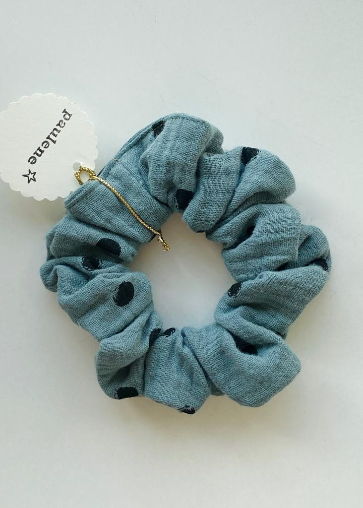 Scrunchie dot blue