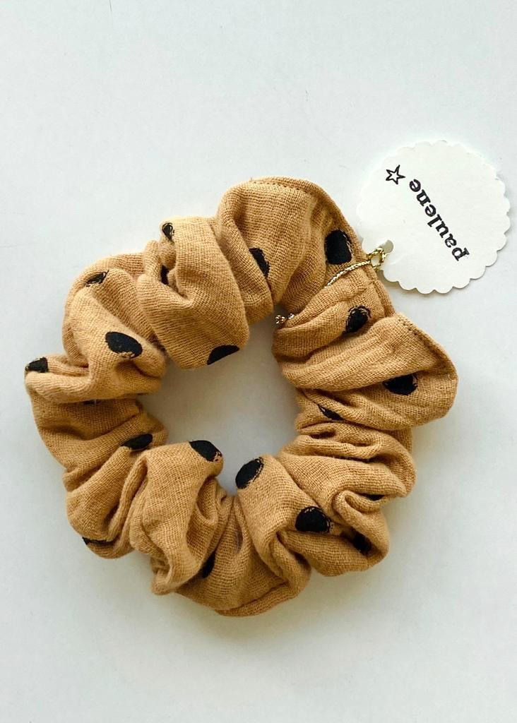 Scrunchie dot camel