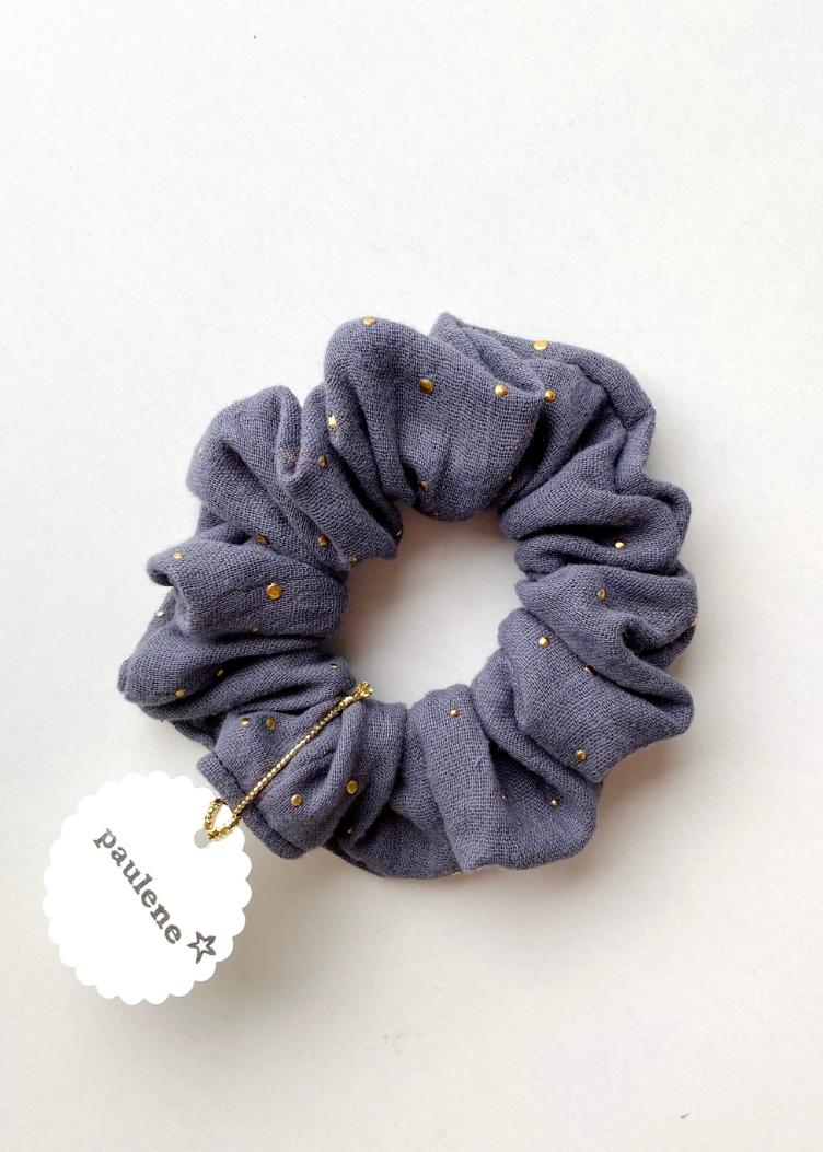 Scrunchie glitter grey