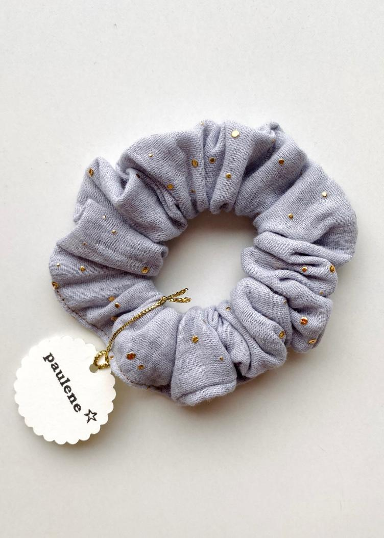 Scrunchie glitter light grey