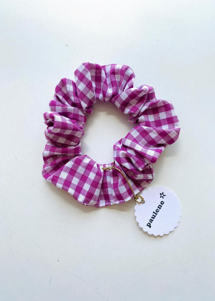 Scrunchie vichy purple