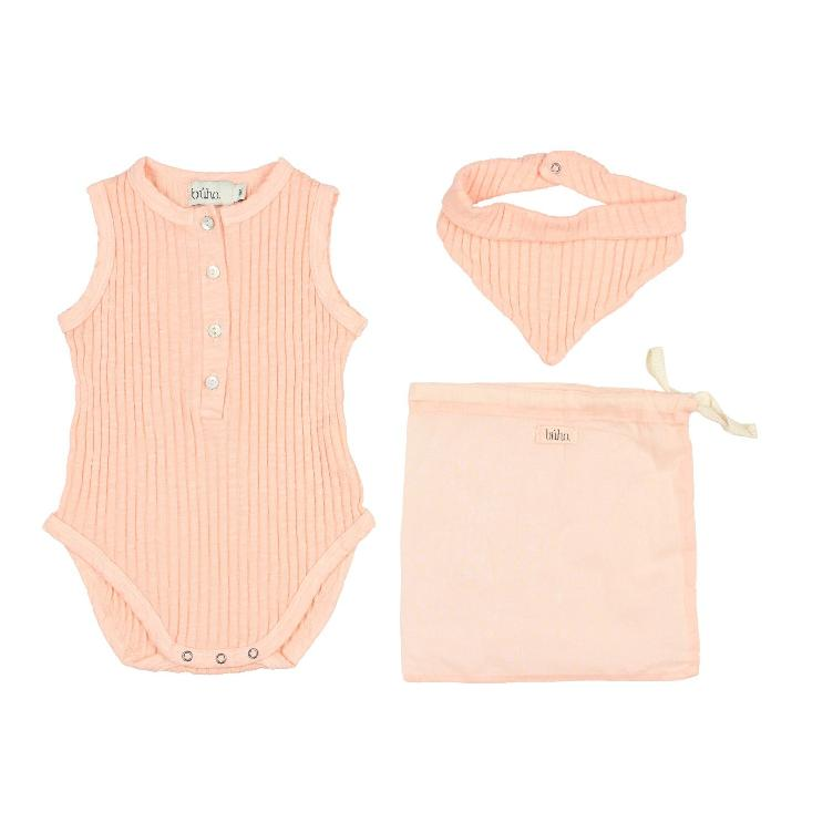 Set holiday baby romper blush pink