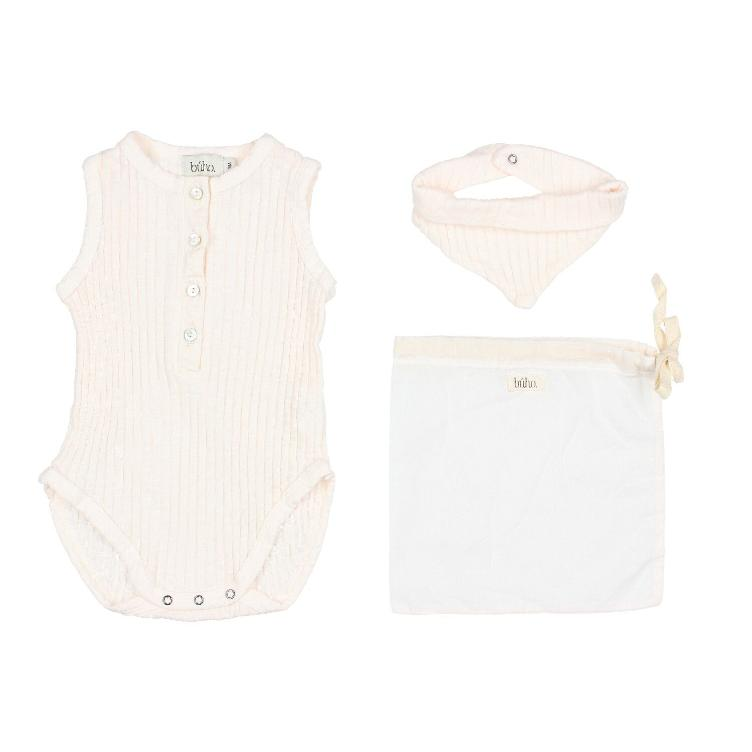 Set holiday baby romper talc