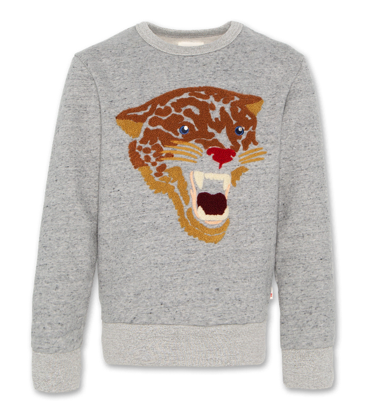 sweater leopard oxford