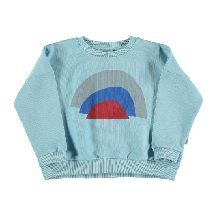 Sweater mist blue rainbow