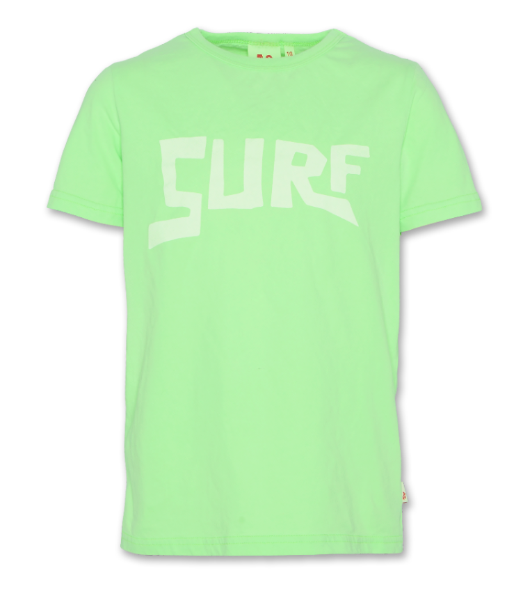 t shirt fluo surf green