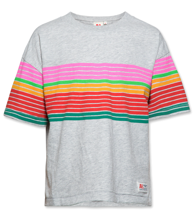 t shirt oversized striped brushed tee