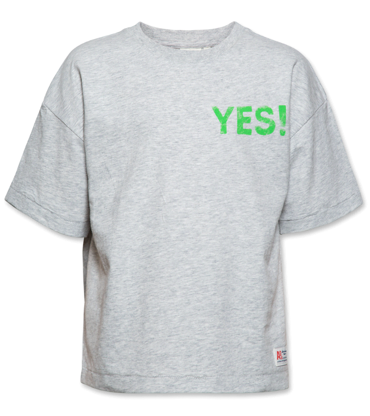t shirt oversized yes light oxford