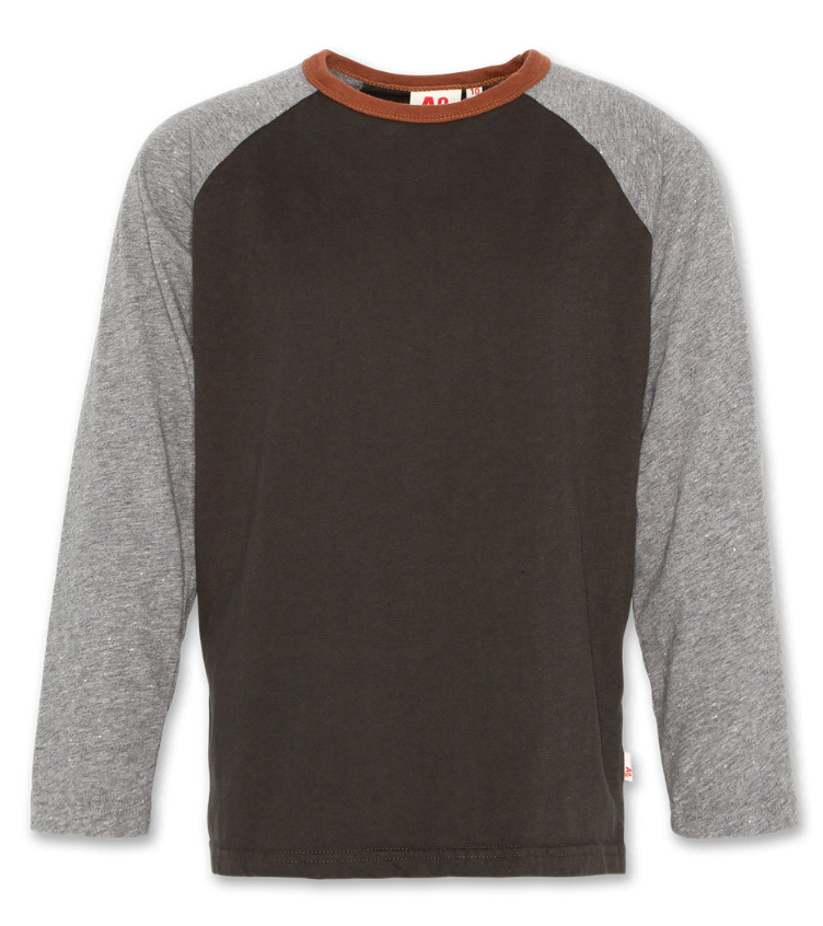 tee contrast long sleeves dark green